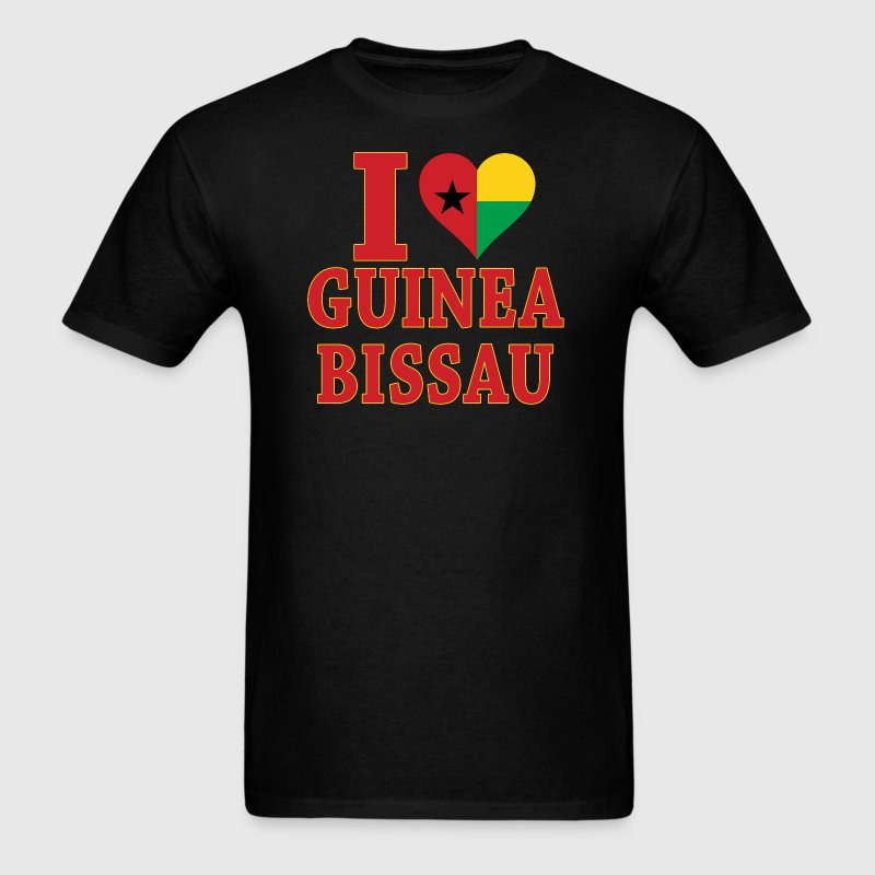 I Love Guinea Bissau Flag t-shirt - Men's T-Shirt