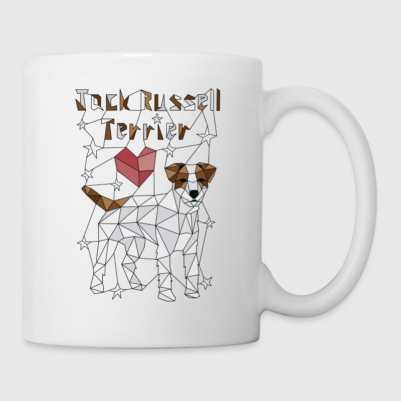 Geometric Jack Russell Terrier Mugs & Drinkware - Coffee/Tea Mug