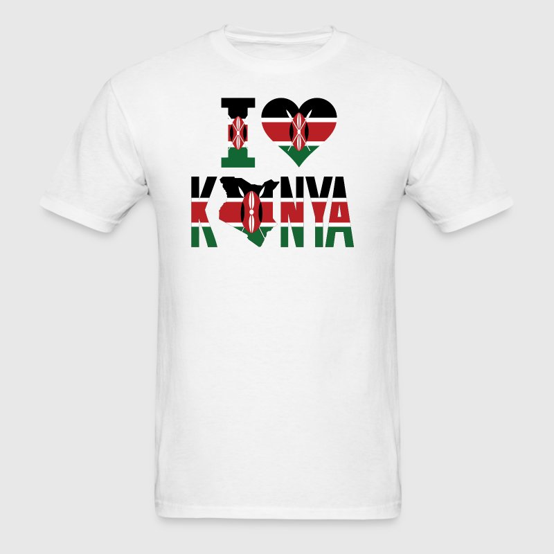 I Love Kenya Flag T-Shirt - Men's T-Shirt