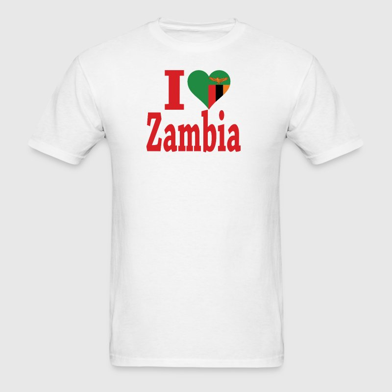 I Love Zambia Flag T-Shirt - Men's T-Shirt
