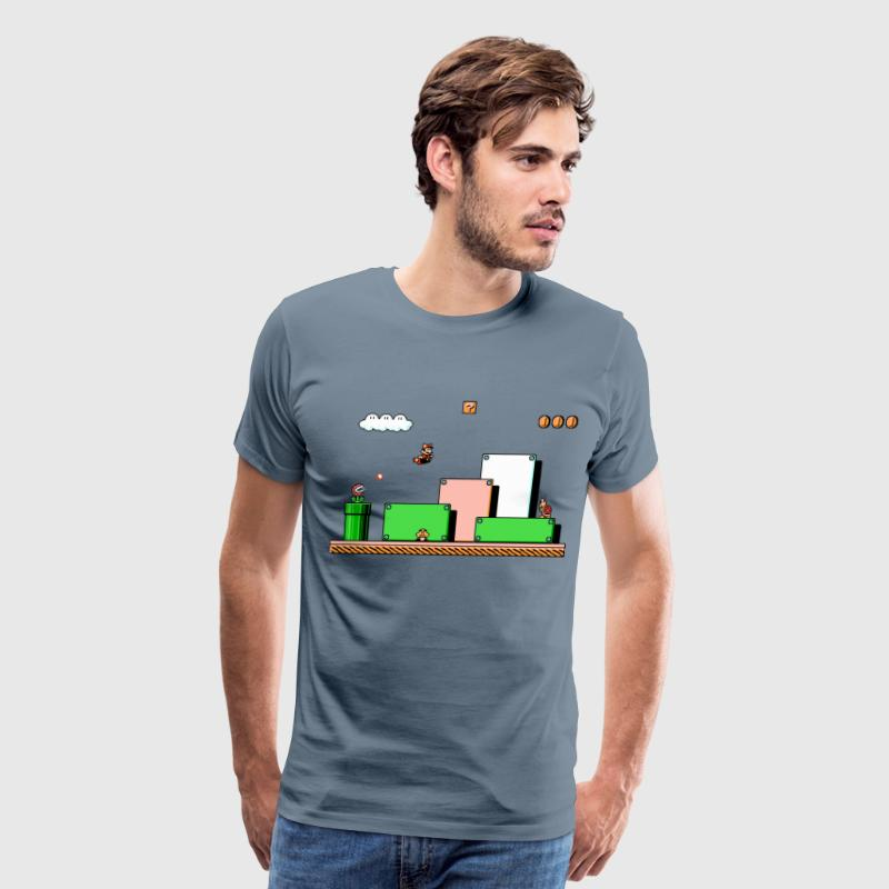 Super Mario Bros 3 - Men's Premium T-Shirt