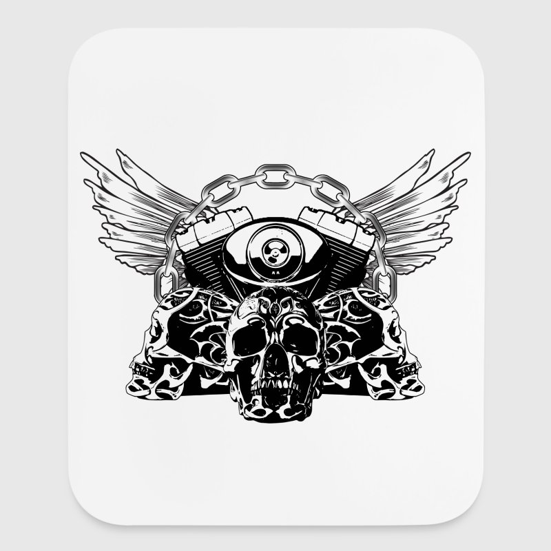 Tribal Skulls Biker Design 5 Other - Mouse pad Vertical