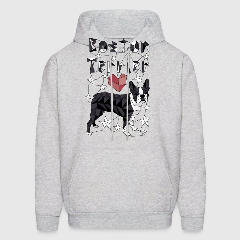 Geometric Boston Terrier Hoodies - Men's Hoodie