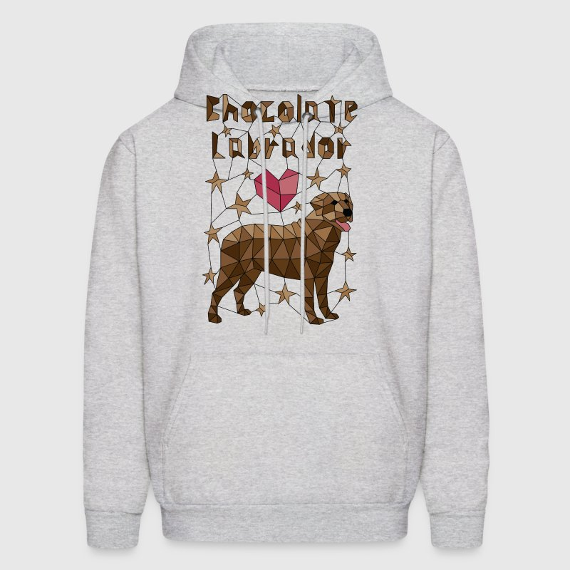 Geometric Chocolate Labrador Hoodies - Men's Hoodie