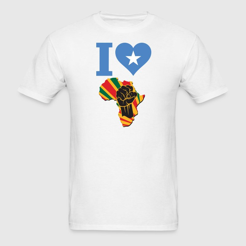 I Love Somalia Flag Africa Black Power T-Shirt - Men's T-Shirt