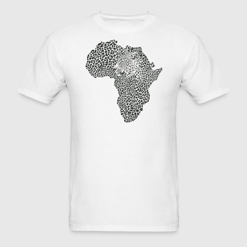 Africa Map With Tiger Head African Safari T-Shirt - Men's T-Shirt