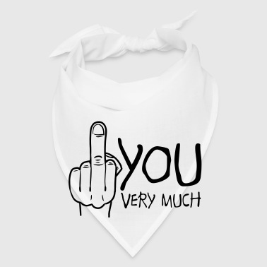fuck you very much / thank you very much Phone & Tablet Cases - Bandana