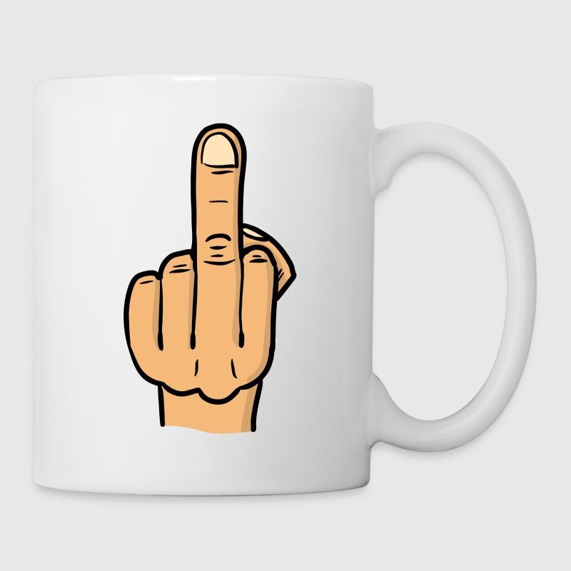 middle finger bitmap deluxe / fuck you / fock you Mugs & Drinkware - Coffee/Tea Mug