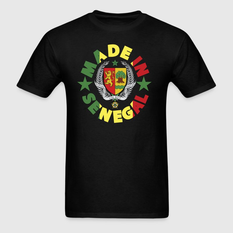 Made In Senegal With Senegal Coat Of Arms T-Shirt - Men's T-Shirt