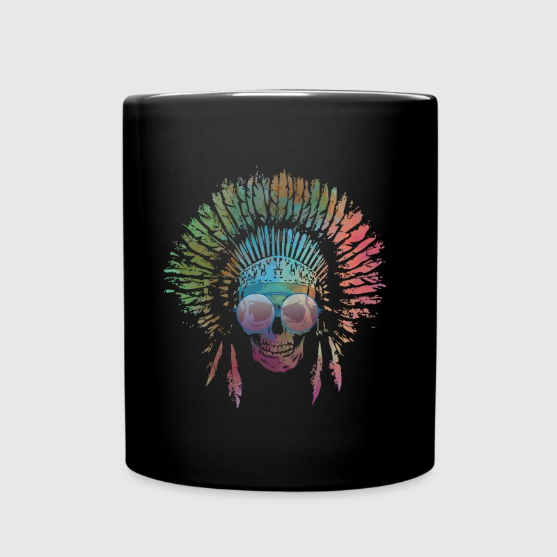 Chief Skull Watercolor Mugs & Drinkware - Full Color Mug
