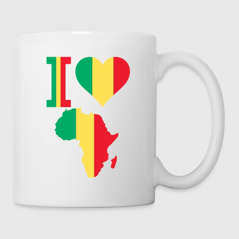 I Love Africa Map Mali Flag Mug - Coffee/Tea Mug