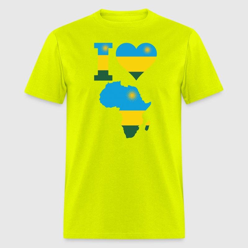 I Love Africa Rwanda Flag TShirt Spreadshirt - Rwanda flag