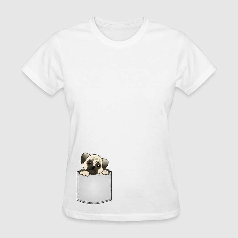 Pocket Pug Puppy Dog - Women's T-Shirt