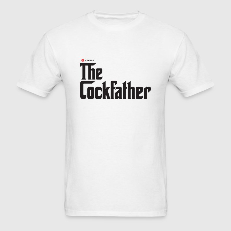 Vporn 'The Cockfather' - light - Men's T-Shirt