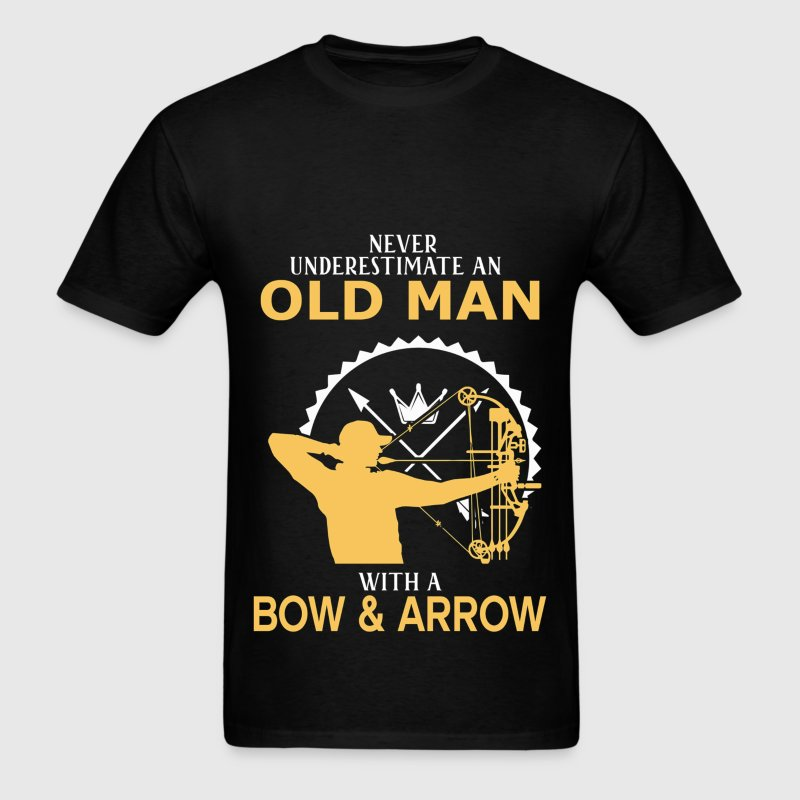 Never Underestimate An Old Man With A Bow & Arrow T-Shirts - Men's T-Shirt