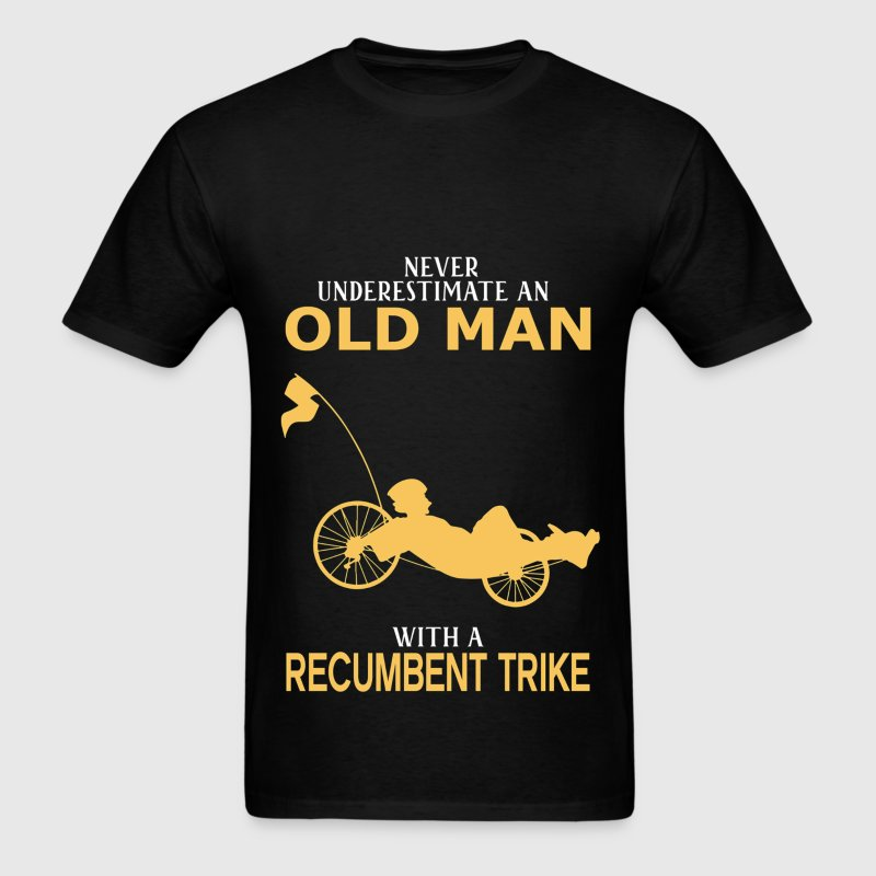 Never Underestimate Old Man With Recumbent Trike T-Shirts - Men's T-Shirt