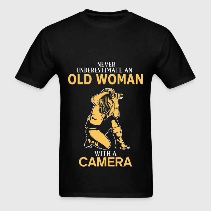 Never Underestimate An Old Woman With A Camera T-Shirts - Men's T-Shirt