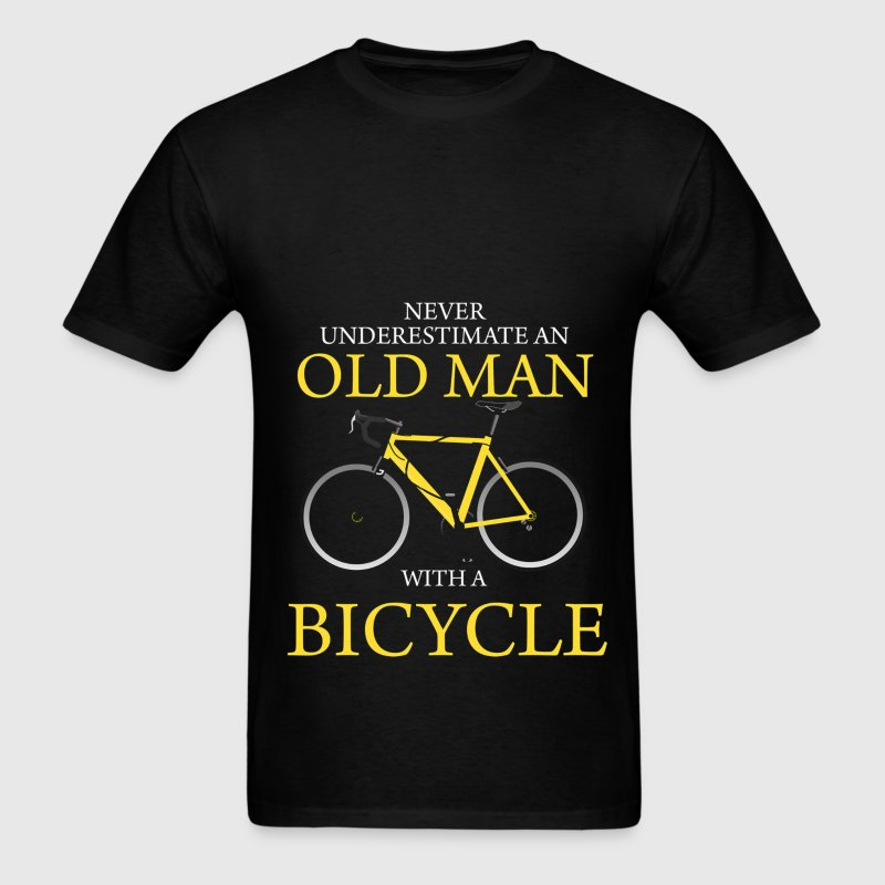 Never Underestimate Old Man With Bicycle T-Shirts - Men's T-Shirt