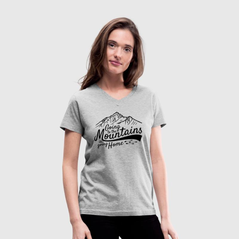 Going to the Mountains - Women's V-Neck T-Shirt