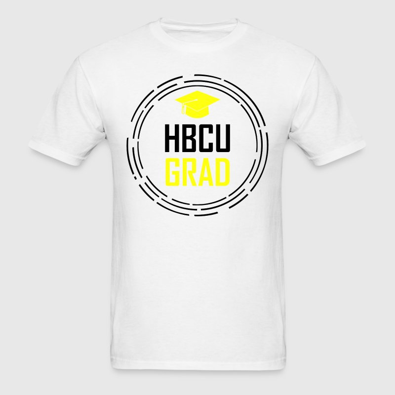 HBCU GRAD Black & Yellow T-Shirts - Men's T-Shirt