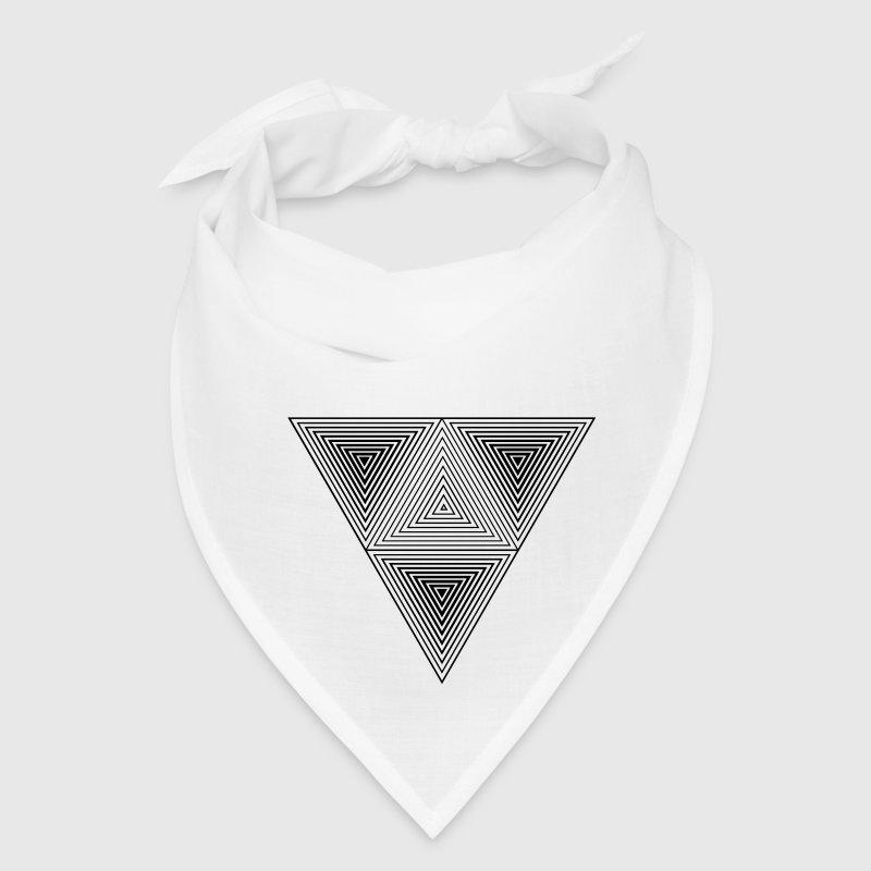 Optical illusion (Hipster triangle) Black & White Bandana ...