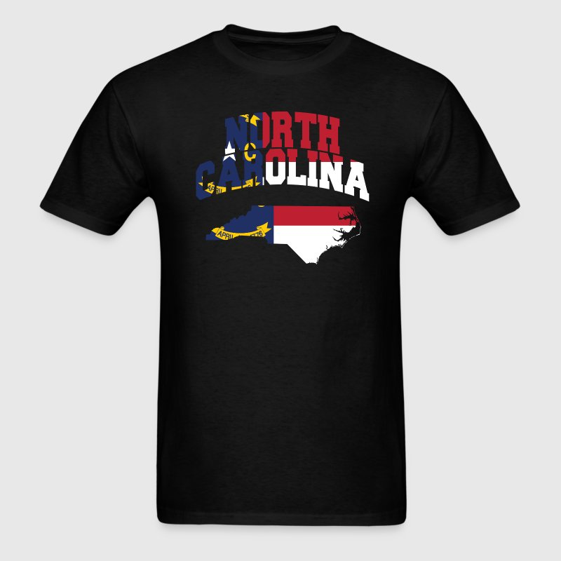 North Carolina Flag Map T-Shirt - Men's T-Shirt