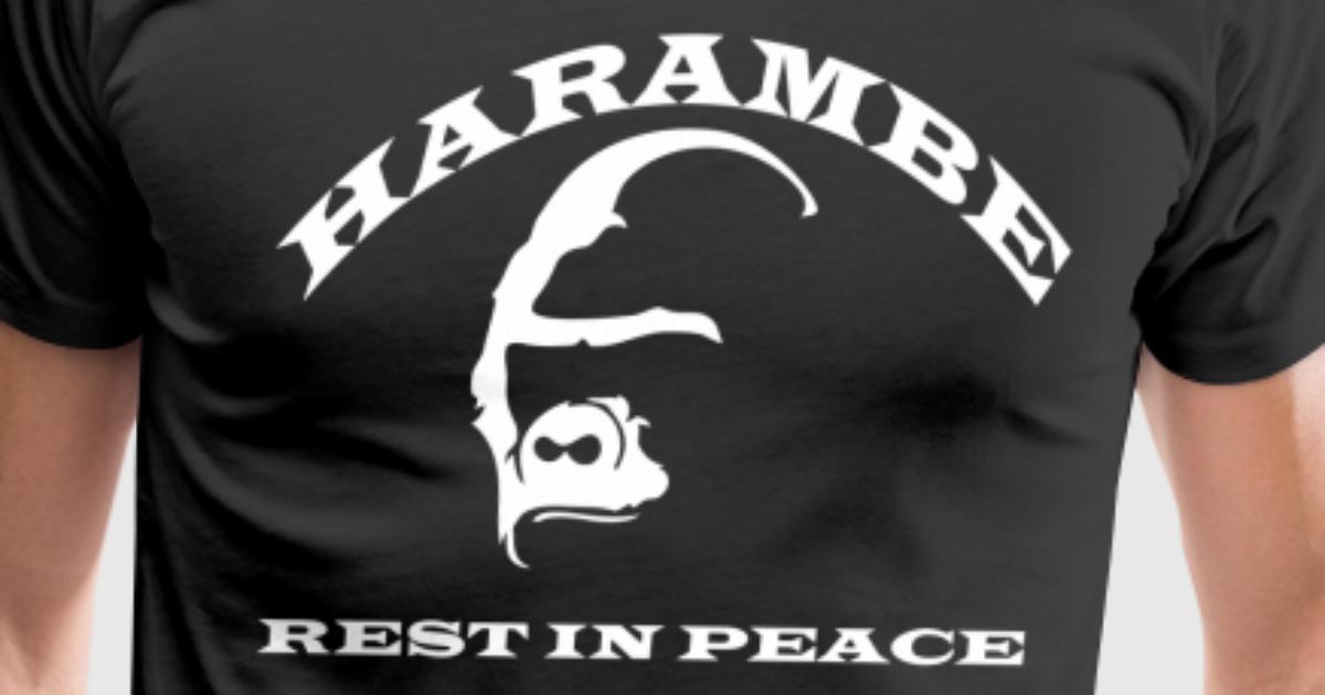 Harambe Rip T Shirt Spreadshirt