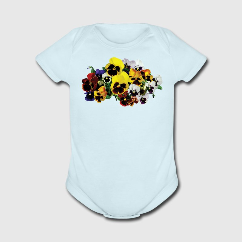 Mixed Pansies Baby Bodysuits - Short Sleeve Baby Bodysuit