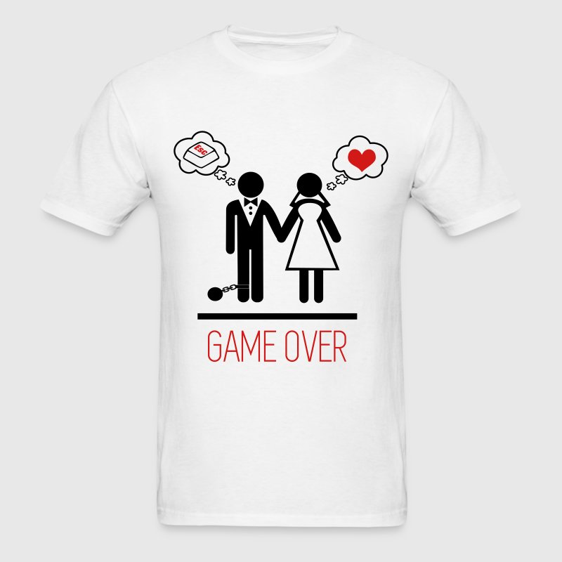 Couples : Game Over Wedding Marriage - Men's T-Shirt