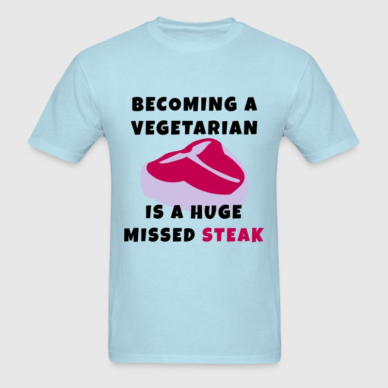 Becoming A Vegetarian T-Shirts - Men's T-Shirt