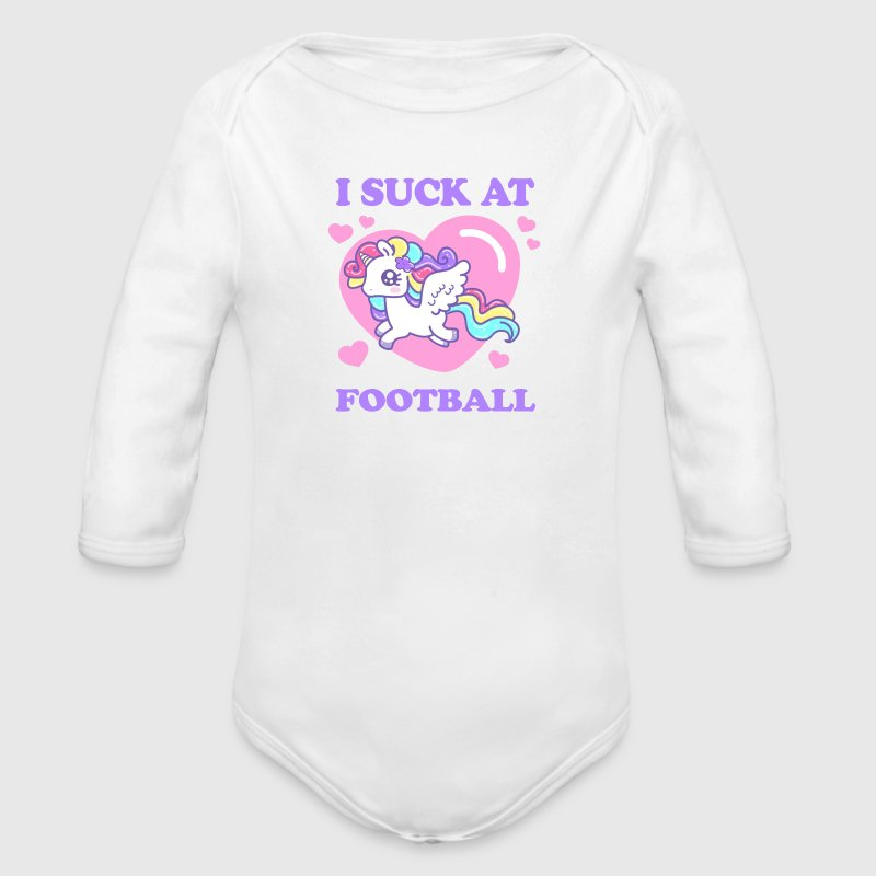I SUCK AT FOOTBALL! Baby Bodysuits - Long Sleeve Baby Bodysuit