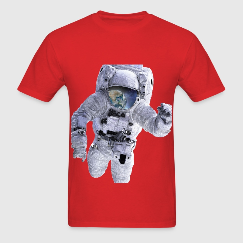 Astronaut Floating away from Earth - Men's T-Shirt