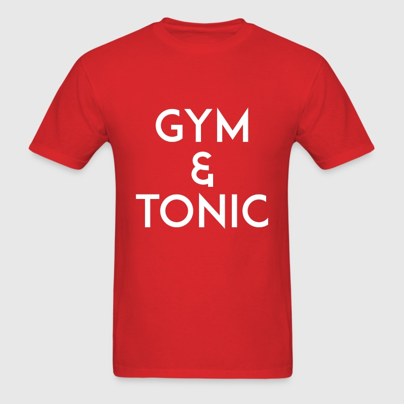 Gym and Tonic White T-Shirts - Men's T-Shirt