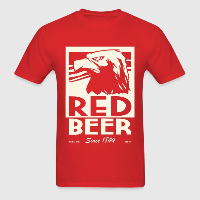 Red beer - Men's T-Shirt