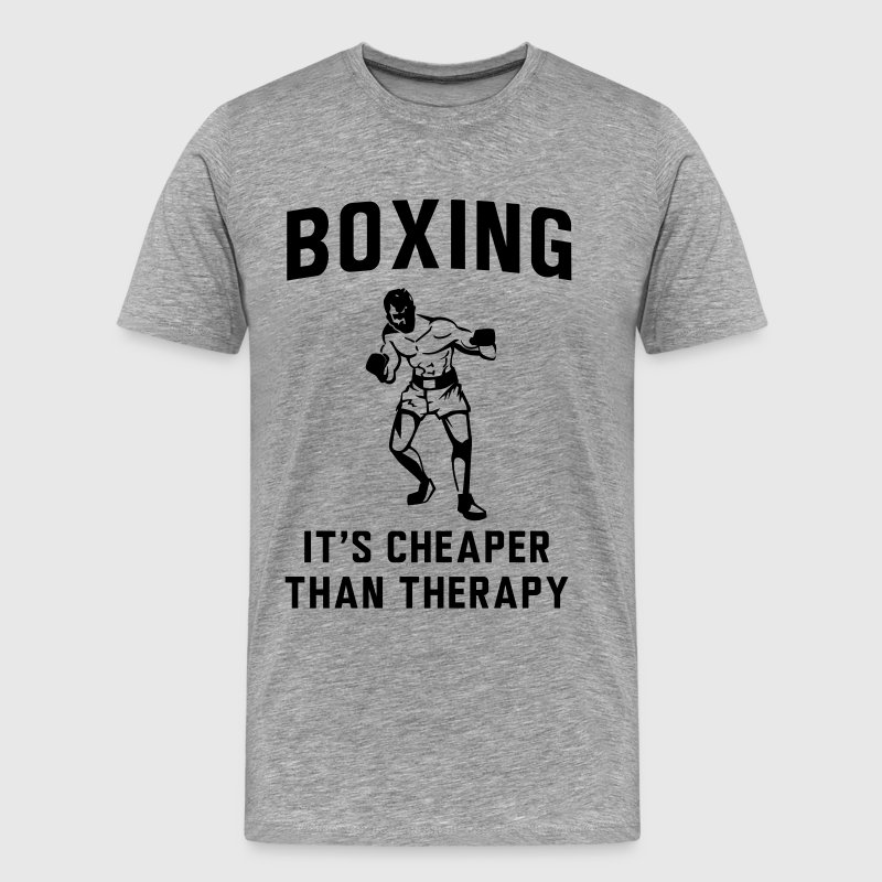 Boxing. It's cheaper than therapy T-Shirts - Men's Premium T-Shirt