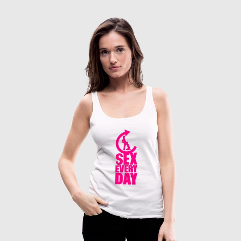 sex every day repeat oral blowjob Tanks - Women's Premium Tank Top