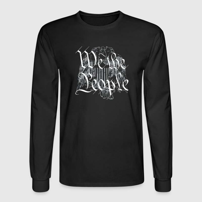 We The People _Grey-transparent background Long Sleeve Shirts - Men's Long Sleeve T-Shirt