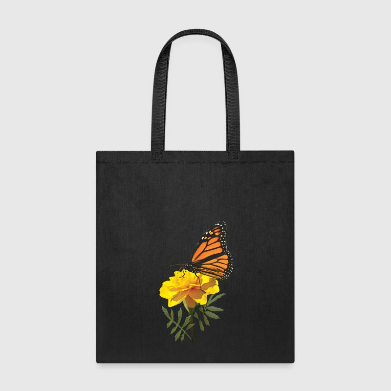 Monarch Butterfly on Marigold Bags & backpacks - Tote Bag