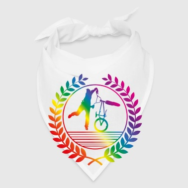 BMX Bicycle rainbow Mugs & Drinkware - Bandana