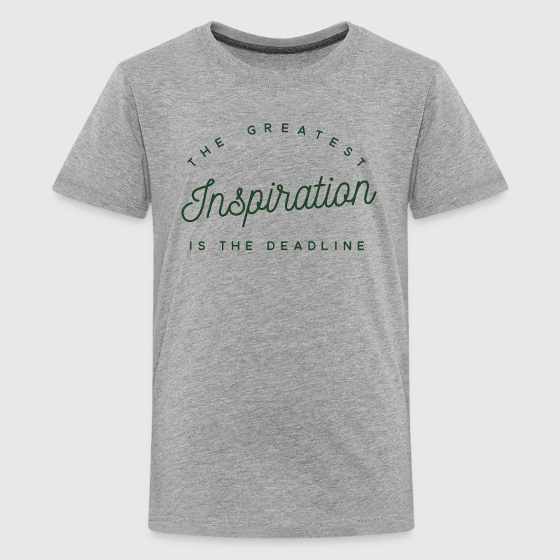 the greatest inspiration is the deadline Kids' Shirts - Kids' Premium T-Shirt