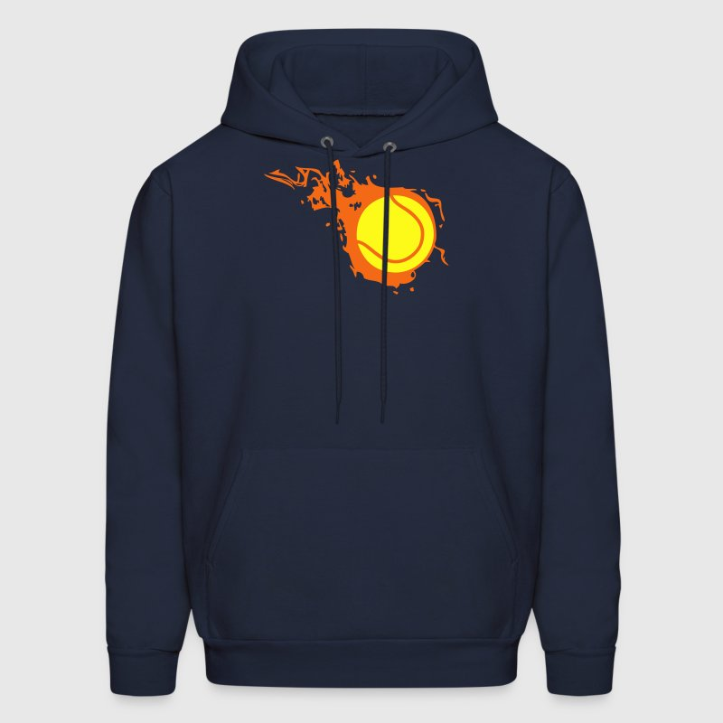 tennis ball flame fireball 302 Hoodies - Men's Hoodie