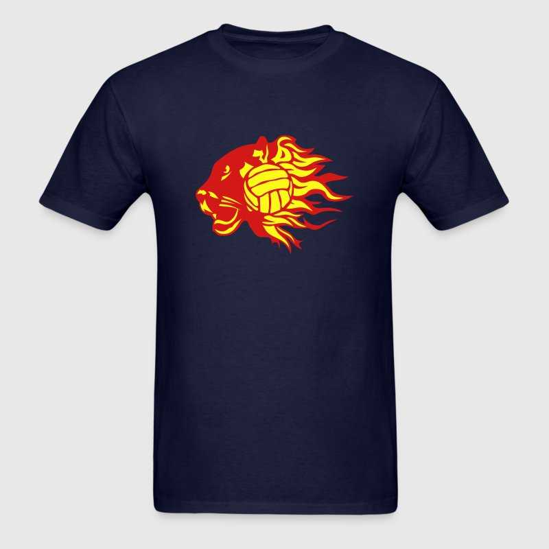 volleyball panther fire flame logo T-Shirts - Men's T-Shirt
