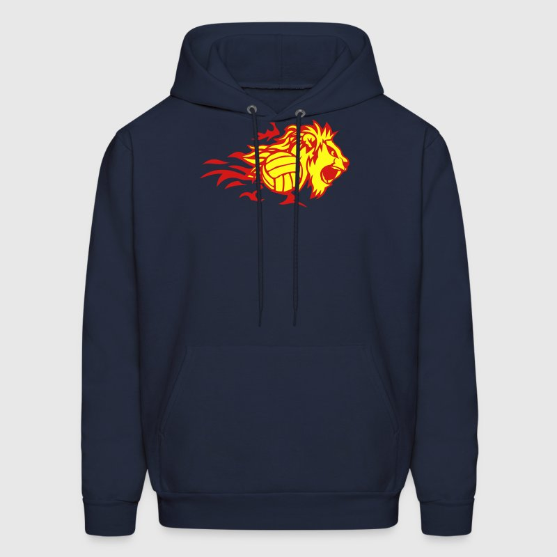 volleyball flame animal lion logo 3028_f Hoodies - Men's Hoodie