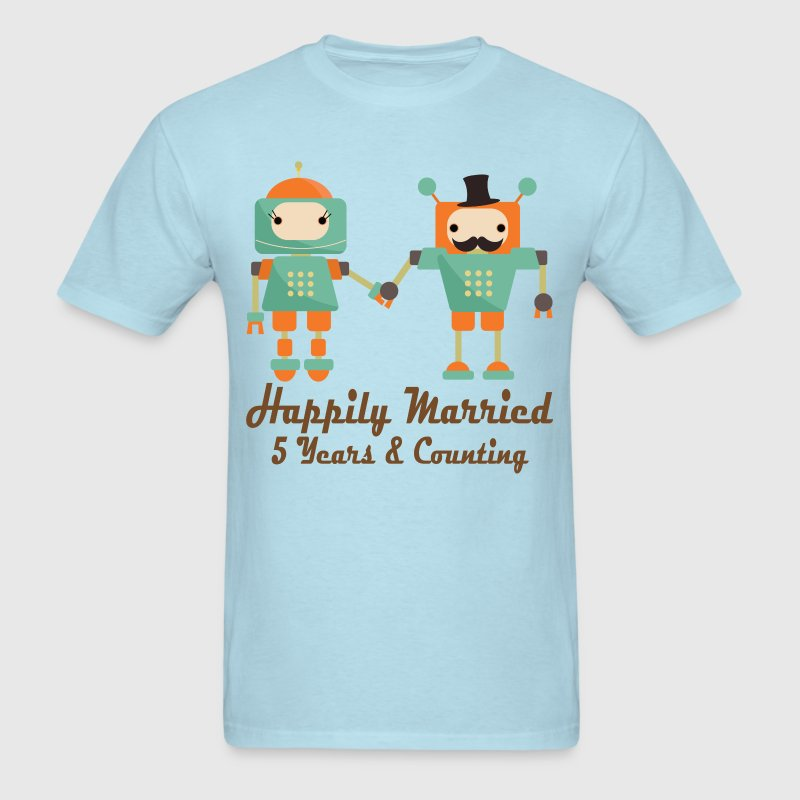 5th Anniversary Couple T-Shirts - Men's T-Shirt