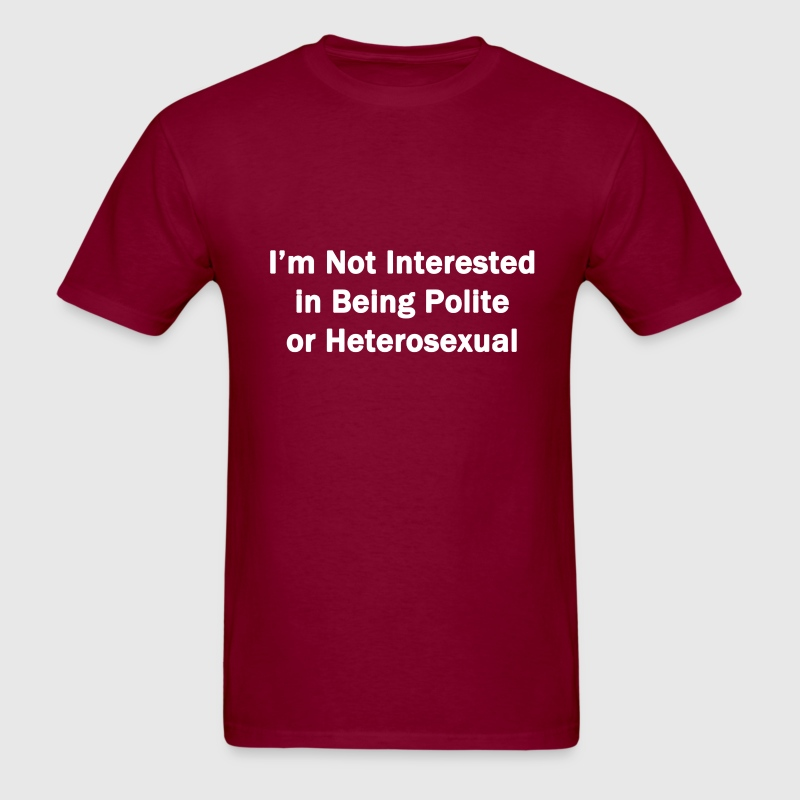 Not Interested - Men's T-Shirt