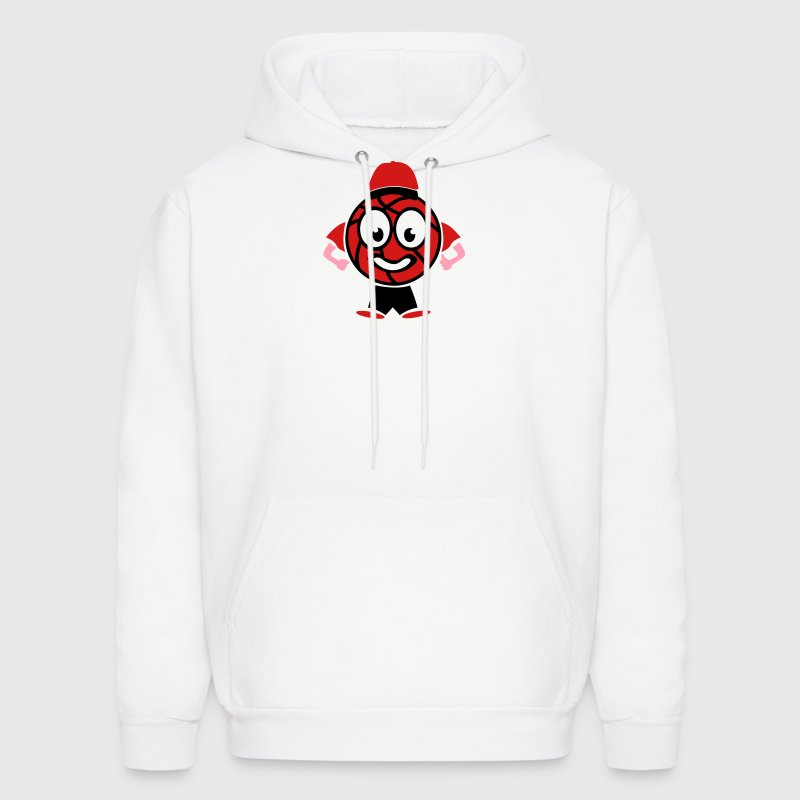 basketball character funny man Hoodies - Men's Hoodie