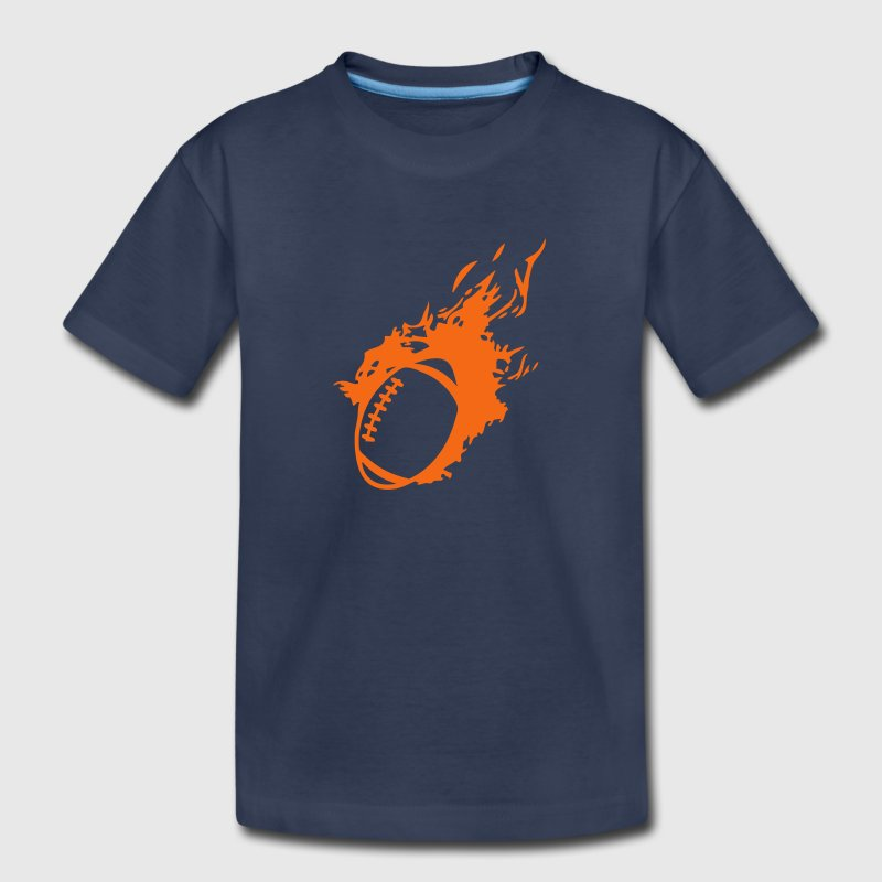 american football ball flame fireball 1 Kids' Shirts - Kids' Premium T-Shirt