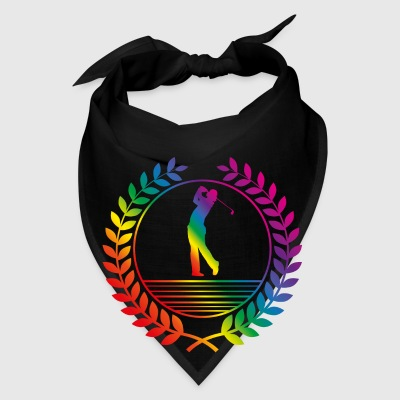 golfer rainbow Bags & backpacks - Bandana