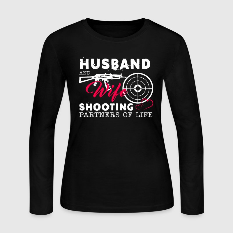 Husband And Wife Shooting Partners Of Life - Women's Long Sleeve Jersey T-Shirt