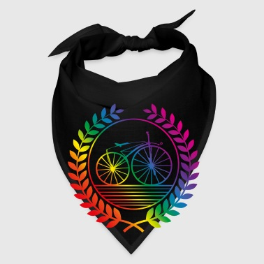 retro bike rainbow Bags & backpacks - Bandana